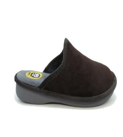 Zapatillas de casa Hombre, con cámara de aire Negro