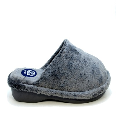 Zapatillas de casa Hombre, con cámara de aire Gris pelo corto