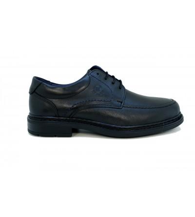Doctor Cutillas 81178 NEGRO Zapato salón en lycra , ancho especial, combinado charol negro /plata