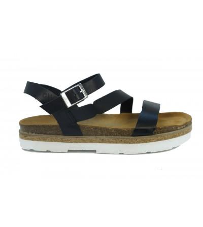 STONEFLY 213021 051 Zapato ante , cierre de cordones elásticos y detalle de brillantes MARRON